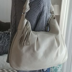 Cole Haan Phoebe large Ivory leather hobo bag